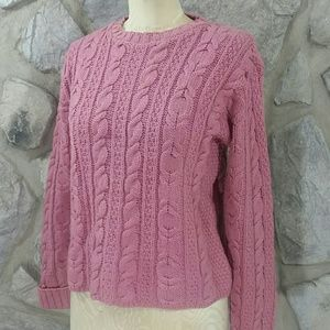 Vintage Irish Merino Wool Fisherman's Sweater